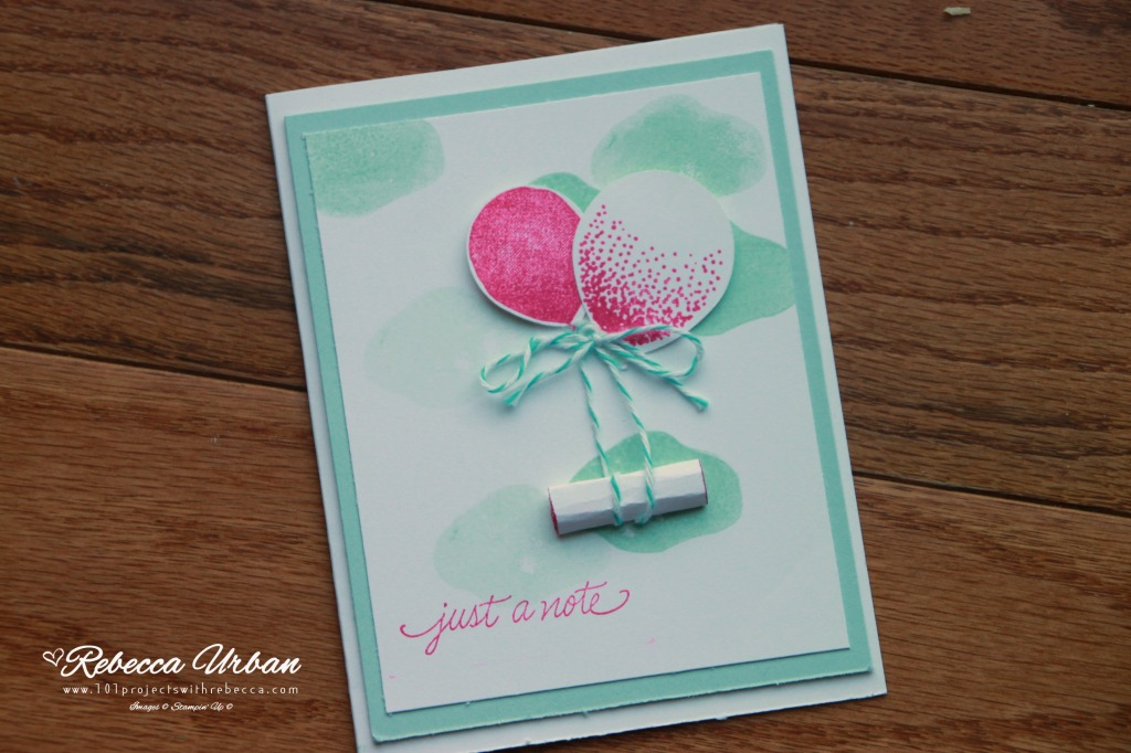 Stampin' Up! Balloon Celebration stamp set and balloon punch