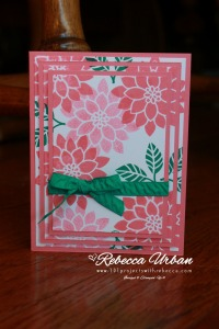Stampin Up Flourishing Phrases. Stampin' Up Flirty Flamingo. Stampin' Up Emerald Envy