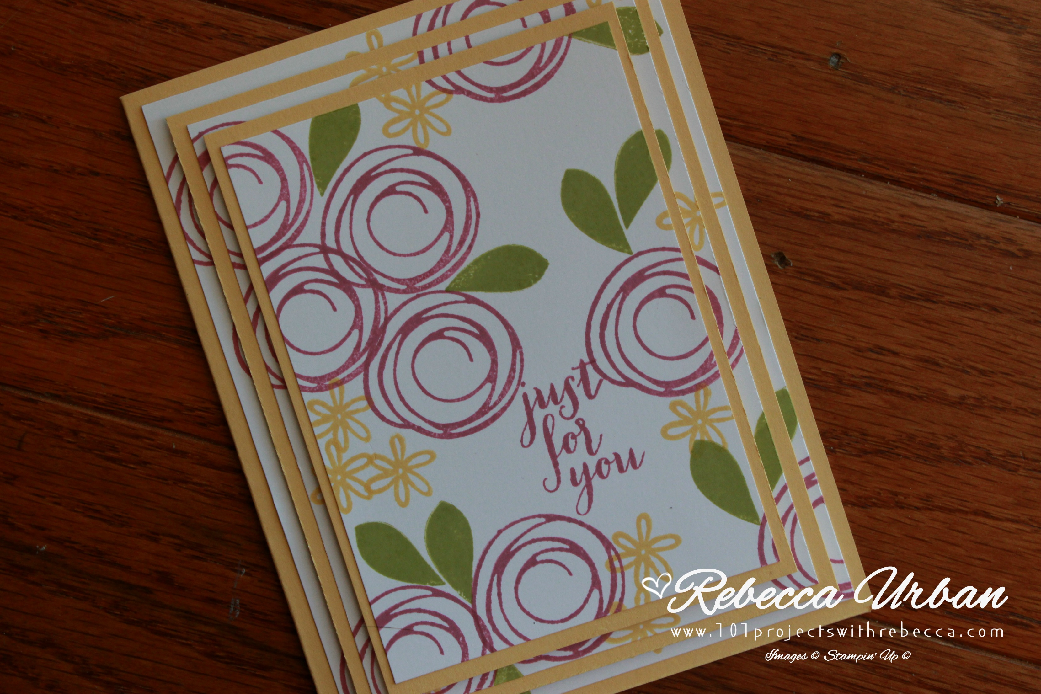 Stampin Up Swirly Bird. Stampin Up Triple Time stamping