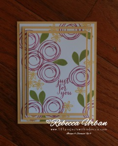 Stampin' Up! Swirly Bird. Stampin' Up Triple Time stamping