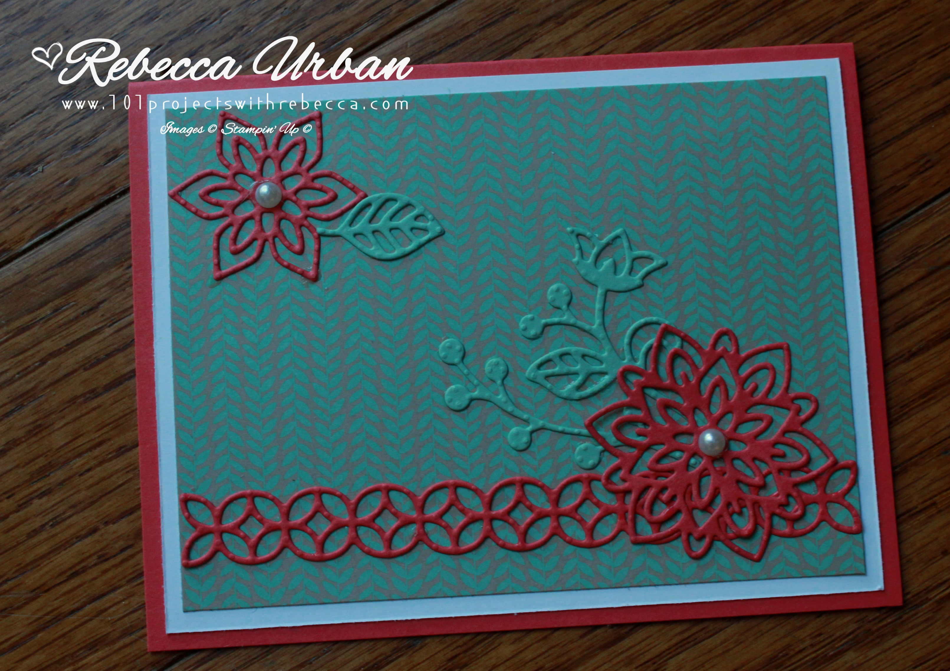 Stampin Up Affectionately Yours DSP, Stampin Up Flourish Thinlits