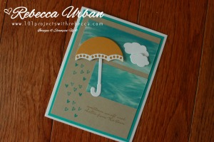 Stampin Up One Sheet wonder. Stampin Up Umbrella Weather
