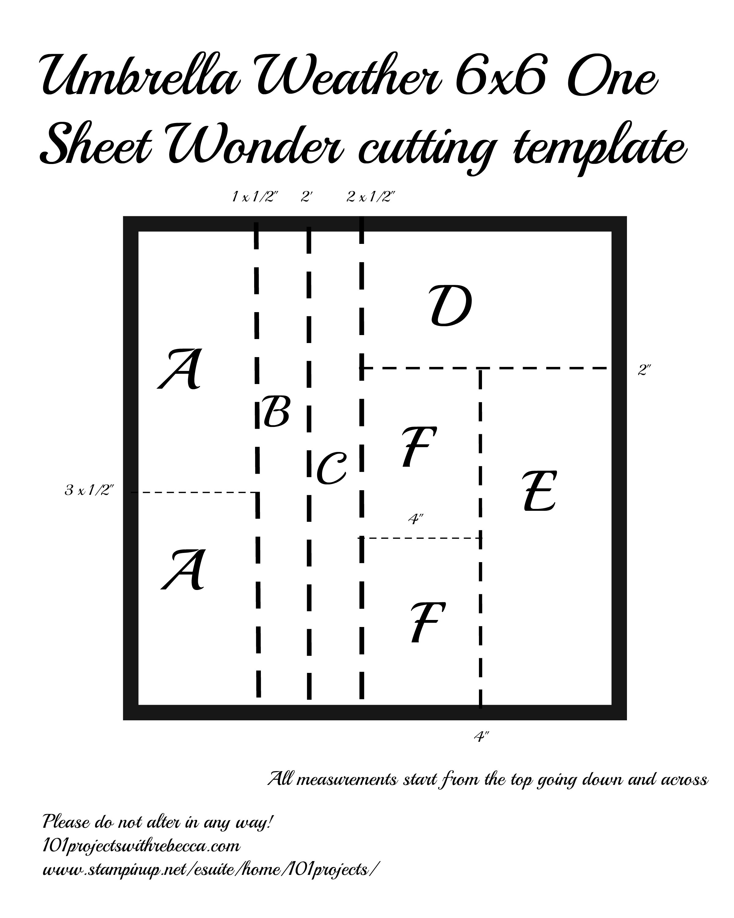 Stampin' Up! One Sheet Wonder OSW template