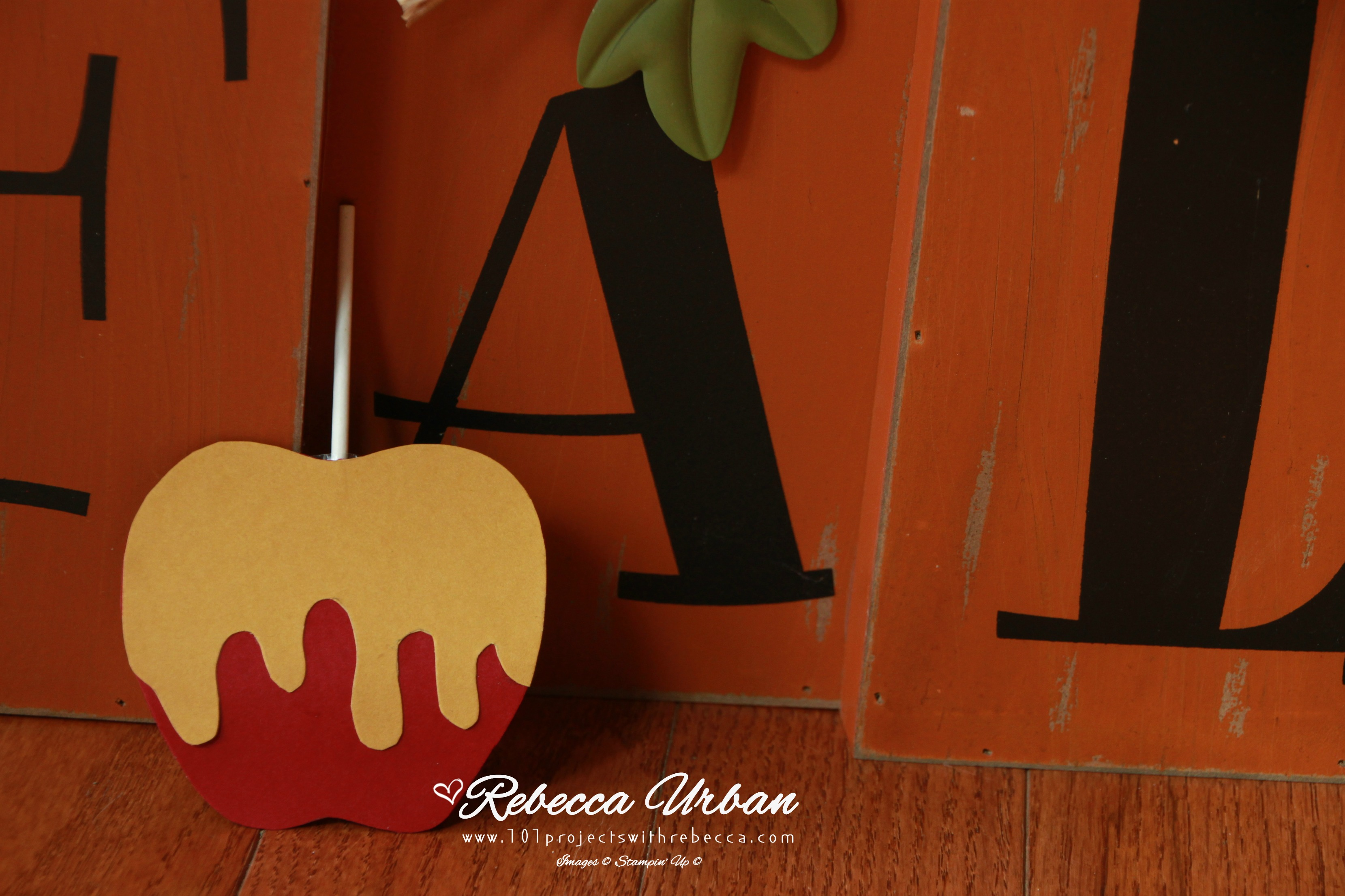 Stampin' Up! Real Red. Stampin' Up fall projects